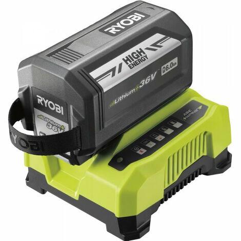 RYOBI Batterie 36V 6Ah Max Power™ High Energy + chargeur - RY36BC60A-160