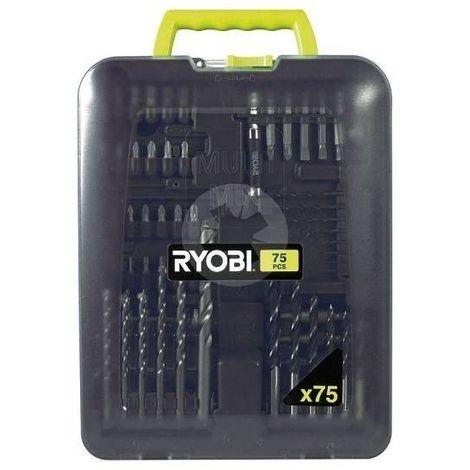 Ryobi - Coffret de forets 75 pièces - RAK 75 MIX