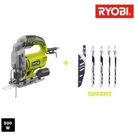 RYOBI electric jig saw 500W 75mm wood - 5 blades RJS750A5