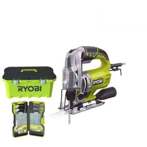 RYOBI electric jigsaw 600W 85mm - box of 20 blades RJS850-TA20JSB
