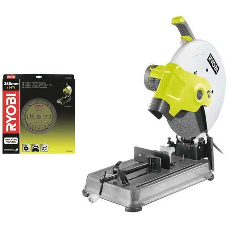 RYOBI electric metal cutting machine pack 2300W 355mm ECO2335HG - disco de corte universal COSB355A1