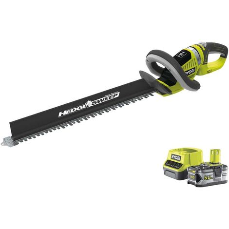 RYOBI Hedge trimmer pack 18V OnePlus LithiumPlus OHT1855R - 1 battery 5.0Ah - 1 fast charger 2.0Ah RC18120-150