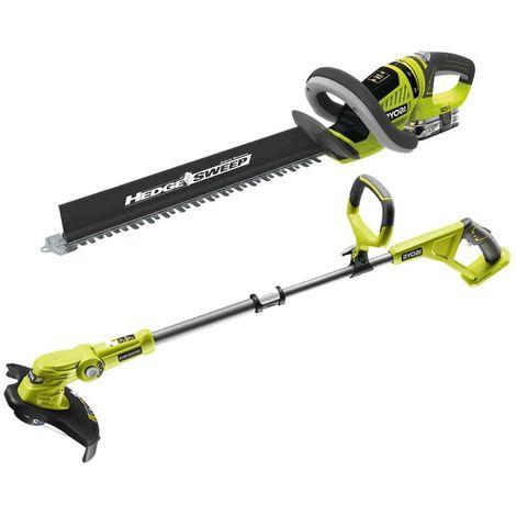 RYOBI Hedge trimmer pack 18V OnePlus LithiumPlus RHT1851R25F - edge trimmer - 18V OnePlus OLT1832 straightener
