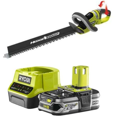 RYOBI Hedge Trimmer Pack 18V OnePlus OHT1855R - 1 Battery 2.5Ah - 1 Fast Charger RC18120-125