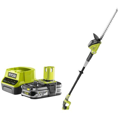 RYOBI Hedge Trimmer Pack 18V OnePlus OPT1845 - 1 Battery 2.5Ah - 1 Quick Charger RC18120-125