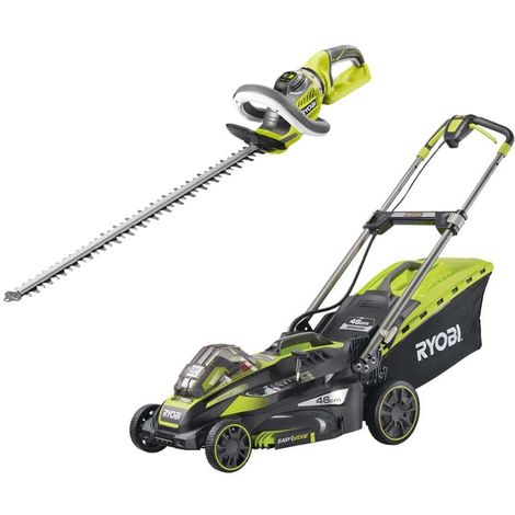 RYOBI Hedge trimmer pack 36V RHT36X60R - 36V LithiumPlus towed mower - 1 battery 5.0Ah - 1 charger RLM36X46H5P