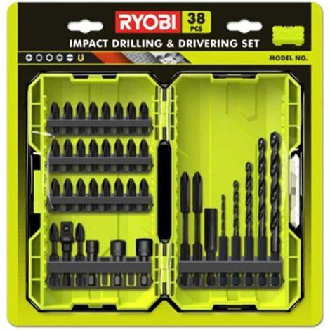 RYOBI impact stackable box 38 accessories drilling-screwing-bolting RAK38DSDI2