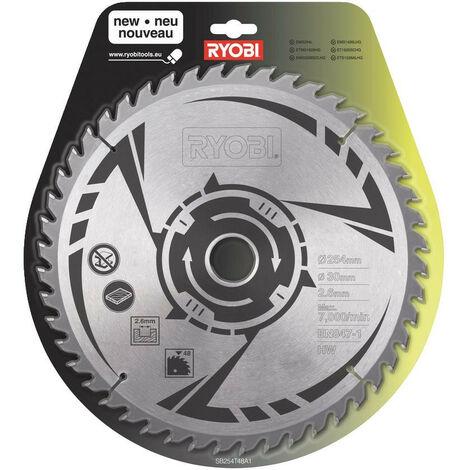 Ryobi - Lame carbure 48 dents Ø 254 x 30 mm scie à onglet et scie sur table - SB254T48A1 - TNT