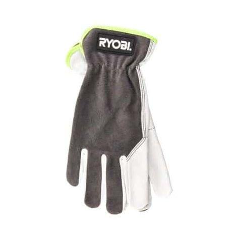 RYOBI Leather Gardening Gloves M RAC810M