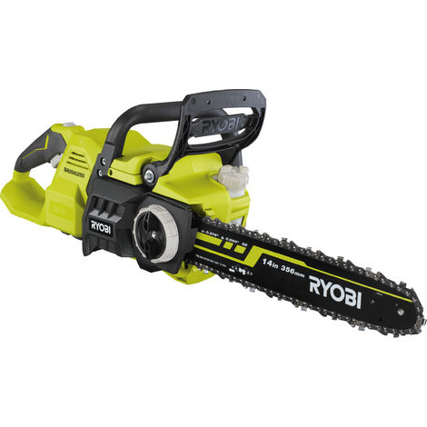 RYOBI - Motosierra 36V - motor sin escobillas / BRUSHLESS - guia 35 cm - tensor sin herramienta - 1 batería Lítio+ 36V 5,0 Ah Max Power™ y 1 cargador 1,7 A