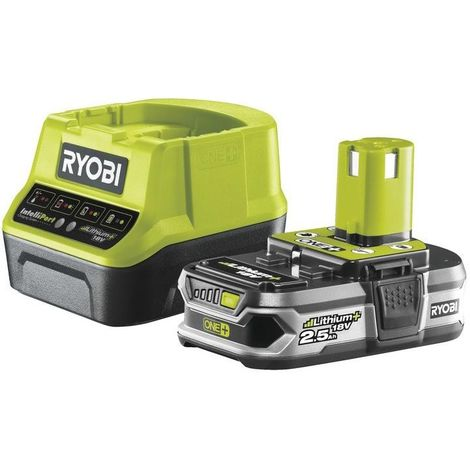Ryobi ONE+ 18V 2.5Ah Battery and Charger Lithium+