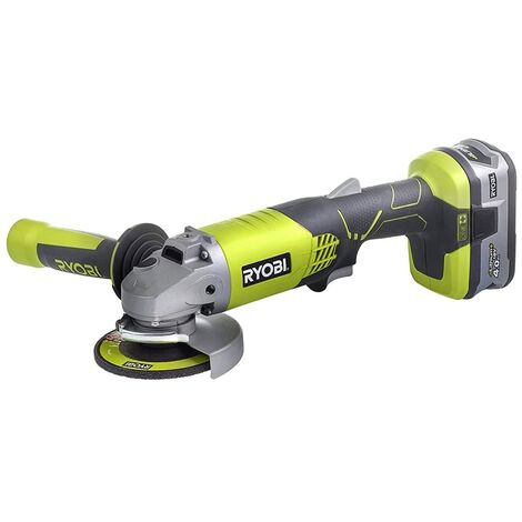 Ryobi ONE+ R18AG-140S 18V Cordless 115mm Angle Grinder with 4.0Ah Battery and Super Charger