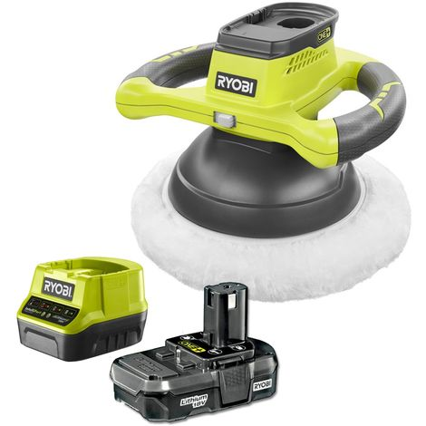 Ryobi ONE+ R18B-113 18V Cordless Polishing & Waxing Buffer with 1.3Ah Battery & Super Charger