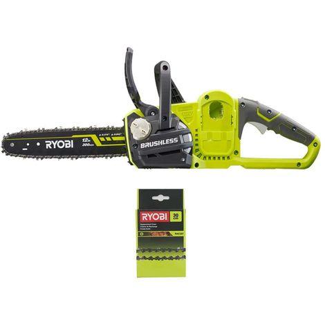 RYOBI Pack 18V OnePlus OCS1830 18V Sierra de cadena - 30cm Chainsaw RAC227