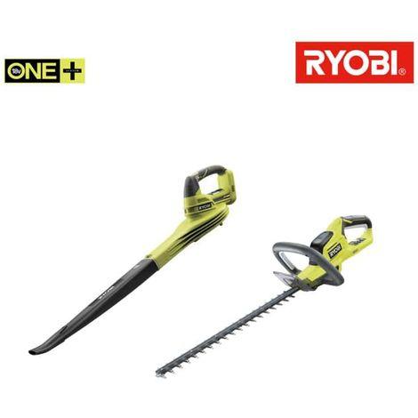 RYOBI Pack Heckenschere 18V OnePlus Lithium OHT1845 - 18V OnePlus Gebläse OBL1820S - ohne Akku und Ladegerät