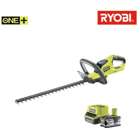 RYOBI pack hedge trimmer 18V OnePlus Lithium OHT1845 - 1 18V OnePlus 4Ah LithiumPlus battery - 1 fast charger 2.0 Ah Lit