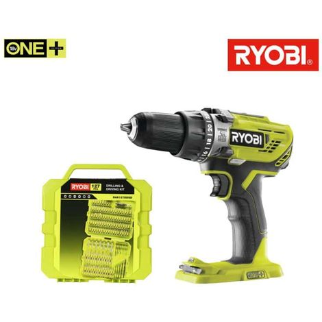 RYOBI Pack Impact Drill 18V Oneplus R18PD3-0 - box 127 screwing accessories for drilling RAK127DDSD