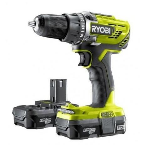 RYOBI PACK PERCEUSE-VISSEUSE SANS FIL + 2 BATTERIES - 18V - 1,3AH 5133003608