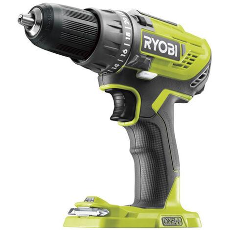 Ryobi Perceuse-visseuse 2 vitesses 18V ONE+, 13mm, sans batterie ni chargeur - R18DD3-0