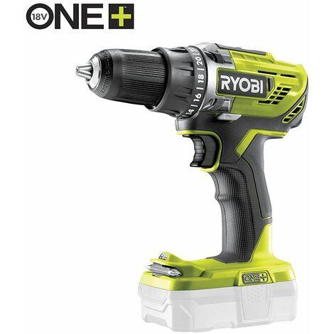 Ryobi - Perceuse visseuse 18V One+ sans batterie ni chargeur - R18DD3-0