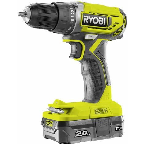 Ryobi Perceuse-visseuse à percussion 2 vitesses 18V, 2Ah, R18DD2-120S - 5133003822