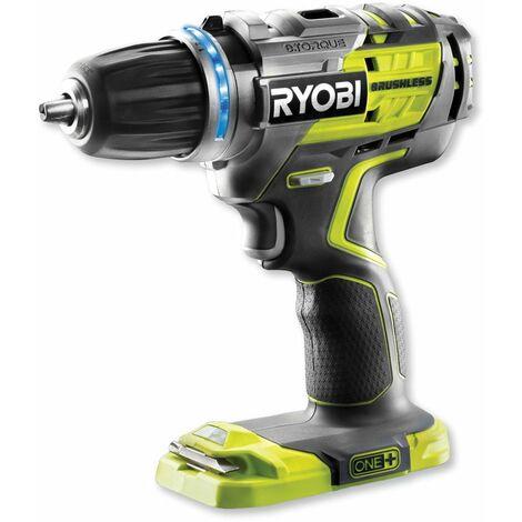 Ryobi Perceuse visseuse sans fil Brushless R18DDBL-0 One+ sans batterie ni chargeur