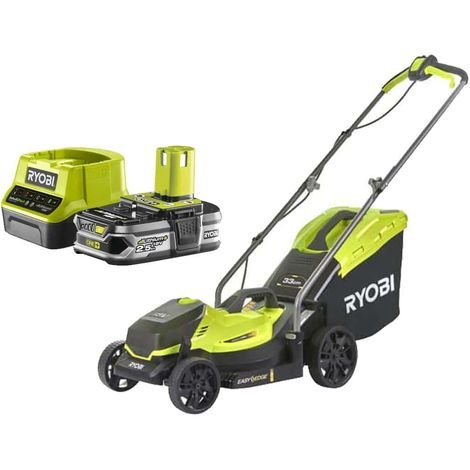 RYOBI Push Mower 18V OnePlus OLM1833B Pack - 1 Battery 2.5Ah - 1 Quick Charger RC18120-125