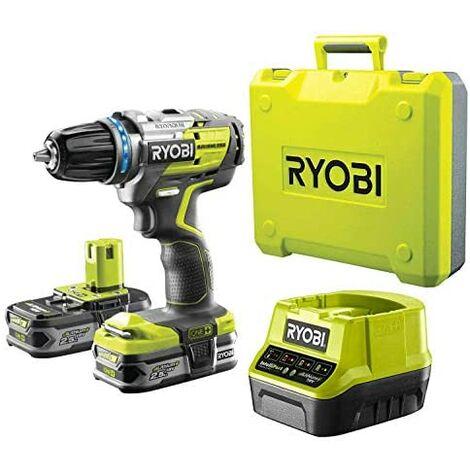Ryobi R18DDBL-225B - Marteau perforateur à batterie, jaune