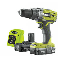 Ryobi R18PD3-213G 18V Hammer Drill with 2 x 1.3Ah Battery & Charger