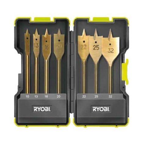 RYOBI shockproof housing 7 flat drill bits for wood drilling RAK07SB