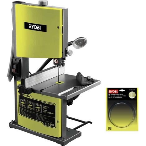 RYOBI stationary band saw package 350W - 230mm RBS904 - fine cutting blade for band saw RAKBS14TPI