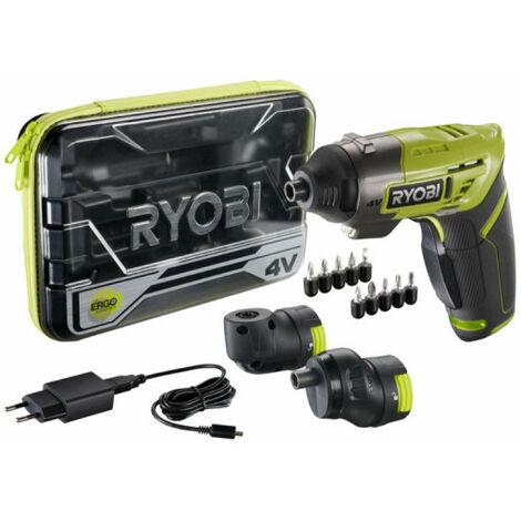 Tournevis sans fil RYOBI 4V Ergo - batterie 1,5 Ah intégrée - chargeur - ERGO-A2
