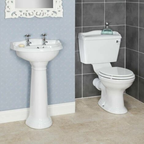 Ryther Cloakroom Suite 500mm 2 Tap Hole