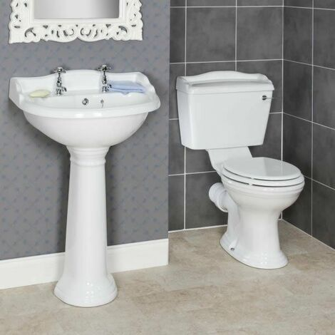 Ryther Cloakroom Suite 600mm 2 Tap Hole