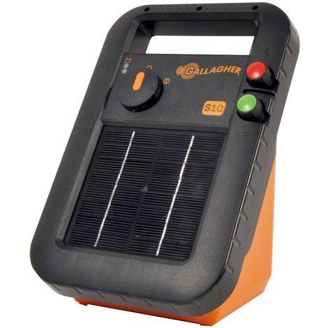 S10 unité électrique solaire avec batterie professionnelle incluse pour petites clôtures jusqu'à 300 m pour chevaux, bovins, chèvres et moutons