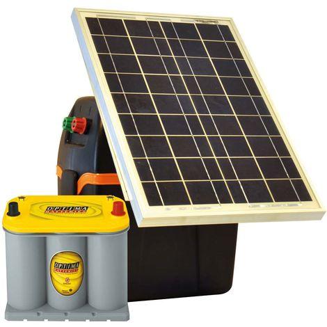 S230 et S220 électrique solaire professionnel pour clôtures jusqu'à 5 km avec panneau solaire et batterie Optima inclus Gallagher
