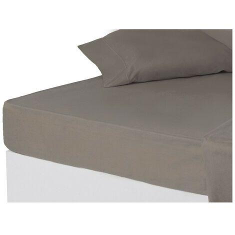 Sábana bajera gris cama 150 cm