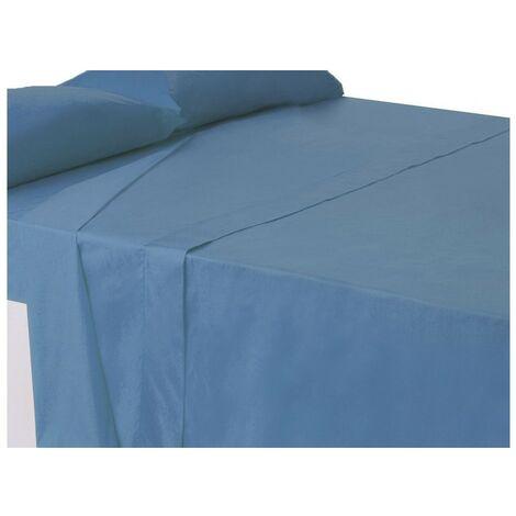 Sábana encimera azul cama 150 cm
