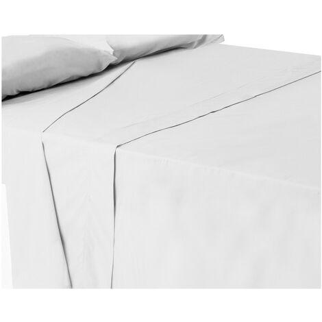 Sábana encimera blanca cama 150 cm