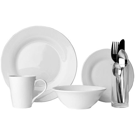 Sabichi 9 Piece Solo Dining Set - Porcelain - Ideal for Students