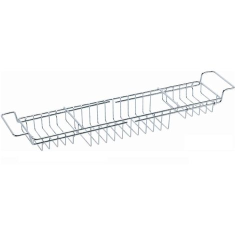 Sabichi Extendable Bath Tub Rack Shelf - Chrome Plated