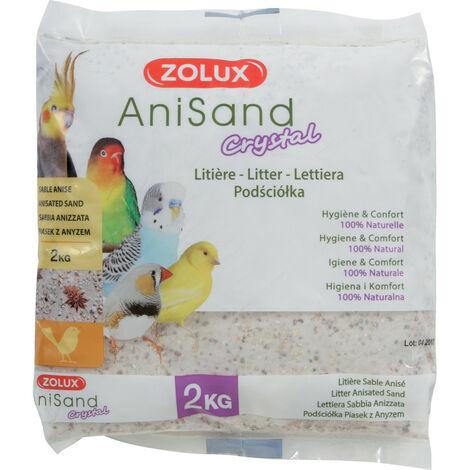 "main image of ""Sable Anisand crystal Litière. 2 kg. pour oiseaux."""