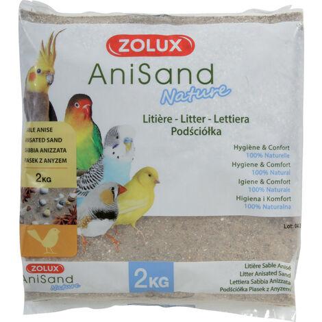 """main image of """"Sable Anisand nature Litière. 2 kg. pour oiseaux."""""""