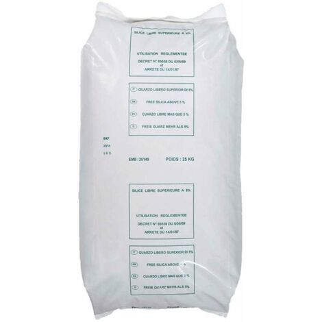 Sable pour filtration 0,4-0,8mm 25kg