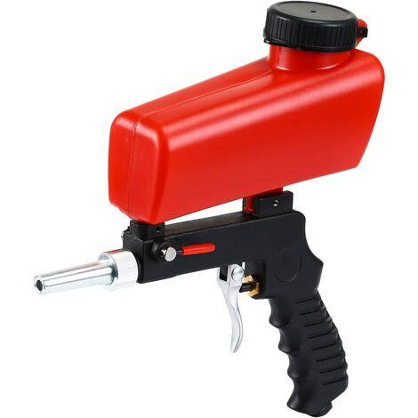 Sableuse portable à sabler/Sandblaster/Pistolet De Sablage pour sable d'acier/perles de verre/carbure de silicium, siphons à sabler/l'entretien automobile pour rouille/peinture/huile