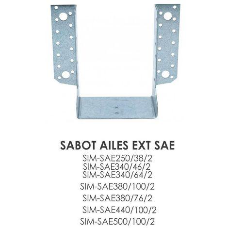 Sabot à ailes extérieures SAE Simpson