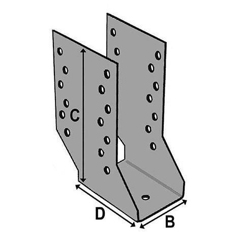Sabot cantilever (P x l x H x ép) 80 x 64 x 158 x 2,0 mm - AL-SC064158 - Alsafix