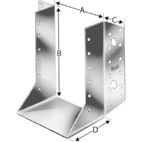Sabot de charpente exterieur BSN80/120 SST (Par 50)