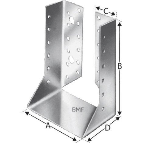 Sabot de charpente interieur BSI80/120 SST (Par 50)