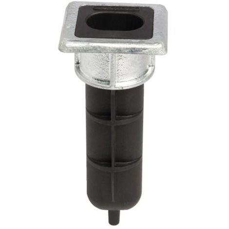Sabot de sol à encastrer Ø 54 x P 160 mm pour verrou Ø 20 mm maxi